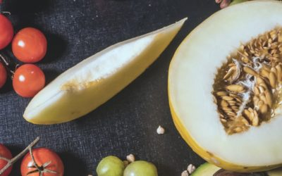 Ensalada de aguacate y melón con AOVE