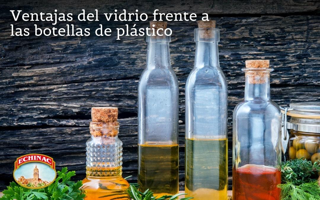 Las ventajas del vidrio frente a los envases de plástico